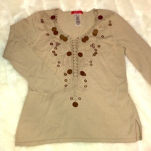 Anne Klein NWOT Top BEAUTIFUL